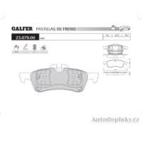 GALFER zadní brzdové desky typ FDA 1045 MINI ONE - MINI COOPER 1.6i 16V -- rok výroby 01- ( brzdový systém ATE )