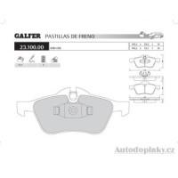 GALFER přední brzdové desky typ FDR 1065 MINI ONE - MINI COOPER 1.4 D -- rok výroby 03- ( brzdový systém ATE )