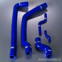 SAMCO Sport kit, silikonové modré sportovní hadice Mini Cooper ( sada obsahuje 5kusů přesných silikonových hadic pro oběh chladící kapaliny )