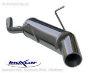 INOXCAR celonerezový koncový díl výfuku Mini ONE 1.6(90PS ) 01-/Cooper 1.6(115PS ) -- od roku výroby 2001- ( koncovka 120x80mm )